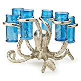 Tozai Home Silver Octopus Shot Glass Holder (includes 6 shot glasses)
