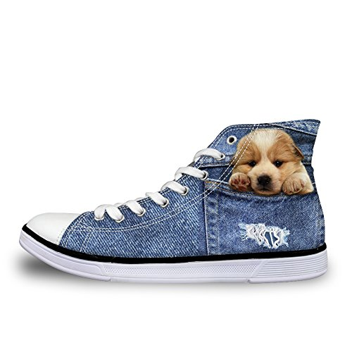 Dog 3 Donna Stivaletto Pantofole Coloranimal Denim a BqzFcxR