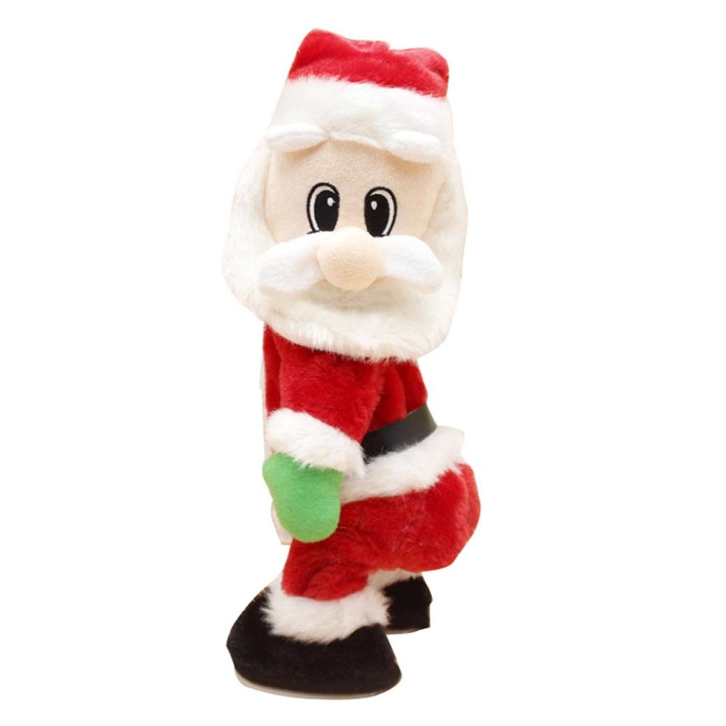 Hkfv Superb unico Charming Christmas Style pattern Superb creative Funny Toys Christmas Santa Claus figure Twisted hip Twerking canto elettrico giocattoli per bambini Best Christmas Gift