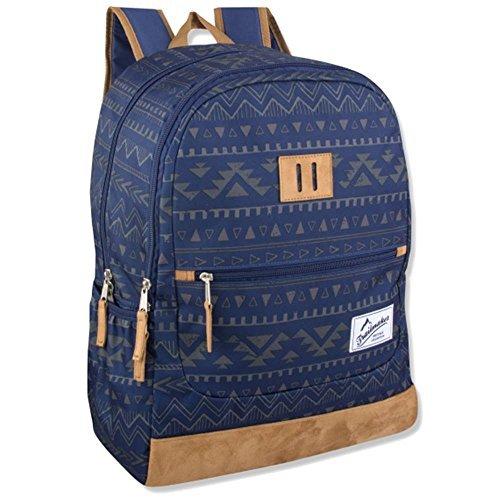 Suede Bottom - Trailmaker Boys' 18 inch Suede Bottom School Backpack (One Size, Navy)