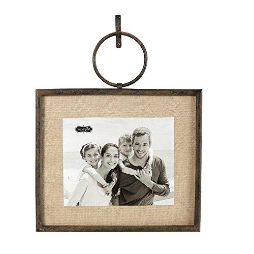 "Mud Pie 12"" x 14"" Cast Iron Hanging Photo Frame"
