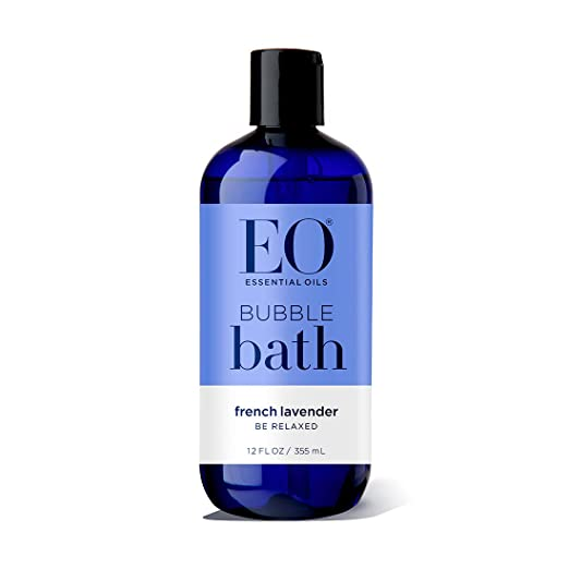 EO Botanical Bubble Bath, Serenity, French Lavender and Aloe, 12 Ounce (Pack of 3)