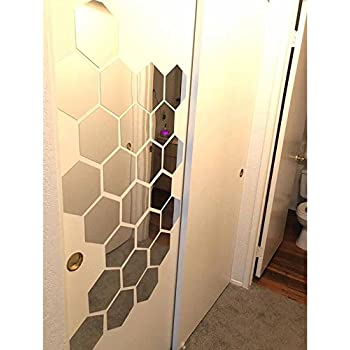 Amazon.com: OMGAI DIY Mirror Wall Sticker, Removable Round Acrylic ...