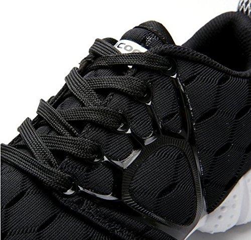 Yiruiya Mens Décontracté Sport Athlétique Lacets Chaussures De Course À Pied Noir