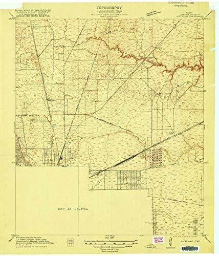 YellowMaps Settegast TX topo map, 1:24000 Scale, 7.5 X 7.5 Minute, Historical, 1916, 26.9 x 23.1 in - Polypropylene ()