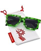 grinderPUNCH® 8-Bit Pixel Retro Novelty Gamer Geek Sunglasses Adult Size