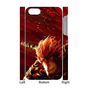 XOXOX Customized Cell phone Cases of Monkey King, Hero is Back Phone 3D Case For Iphone 4/4s [Pattern-2]