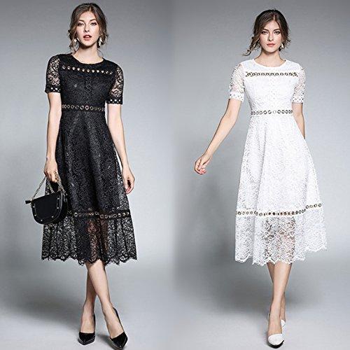 ZHUDJ Las Mujeres Caen _ Otoño Señoras Temperamento Encajes Collar Una Línea Delgada Costuras Hebilla L code weight 400g