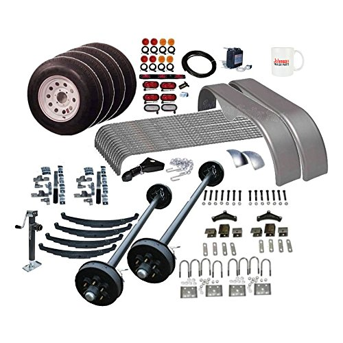 Tandem Axle Cargo Trailers (Covered Cargo Trailer Parts Kit - 10,400 lb - Tandem Brake Axles - Frame Width 76