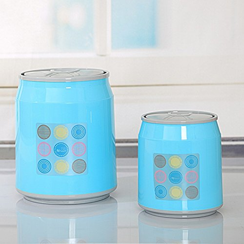 Plastic Dustbin Trash Cans Mini Creative Clean Box Eco-friendly Pp Small Cleaning Barrel Sitting Room Sundry (Blue) by Waste Bins
