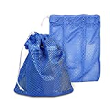 Cheap 2 pcs Heavy Duty Laundry Nylon Mesh Stuff Sack Bag with Sliding Drawstring Cord Lock Closure