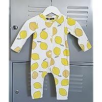 Baby mustard bodysuit with yellow lemons / citrus fruit
