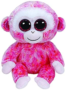 Ty - Peluche mono, 15 cm, color rosa (United Labels 36122TY)