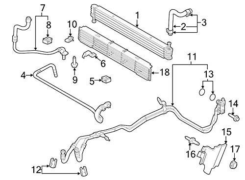Ford DL3Z-7A095-A, Auto Trans Oil Cooler