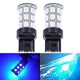 7440 led bulb blue - KATUR 2-Pack Blue Super Bright 750Lums 7440 7440NA 7441 992 Base 27 SMD 5050 LED Replacement for Car Incandescence Bulb RV Camper Brake Turn Lamp Lights DC 12V 8000K
