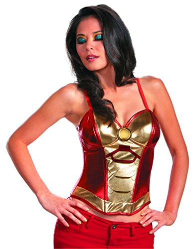 [Disguise Marvel Iron Man Mark 42 Fiercely Femme Sassy Womens Adult Bustier Costume, Gold/Red,] (Iron Man Costumes Womens)