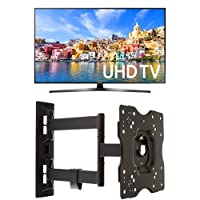 Samsung UN40KU7000 40-Inch 4K Ultra HD Smart LED TV + AmazonBasics Articulating TV Wall Mount