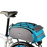 Bike Rear Rack Bag, 1Pcs Waterproof Bicycle Rack Carrier Bags Cooler Bikes Panniers Bicycles Back Trunk for Cycling, Rack Trunks, Blue