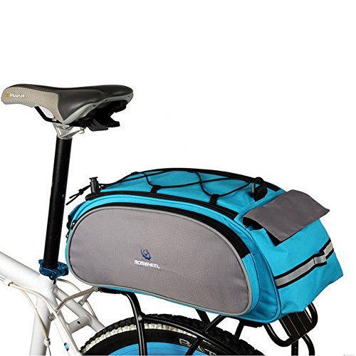 Rear Cooler Rack (Bike Rear Rack Bag, 1Pcs Waterproof Bicycle Rack Carrier Bags Cooler Bikes Panniers Bicycles Back Trunk for Cycling, Rack Trunks, Blue)
