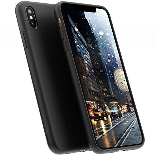A BETTER MINIMALIST CASE for iPhone XS Max, Moduro Ultra Thin [1.5mm] Slim Fit Flexible Soft TPU Case for iPhone XS Max (Matte Black)