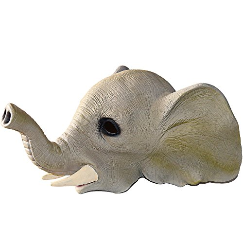 XIAO MO GU Latex Halloween Costume Party Decoration Animal Head Mask Elephant (Funny Mens Homemade Halloween Costumes)