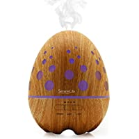 SereneLife Ultrasonic Aroma Diffuser Essential Oil Aromatherapy - 400ml Wood Bamboo Cool Mist Fragrance Humidifier w/ Fade Light & Off Timer - Personal Home Living, Office Scent Therapy SLFRSHAR14