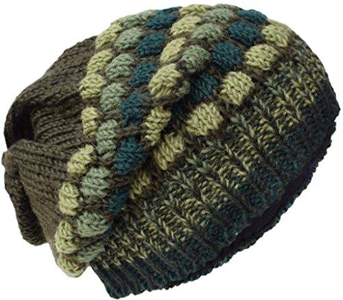 Little Kathmandu De Punto Lana Fleece Forrado Multicolore Beanie Sombreros Q