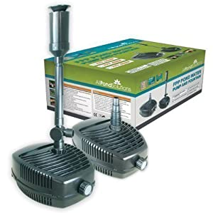 All pond solutions fpp 4500 pond pump with fountain for Outdoor pond pump filter
