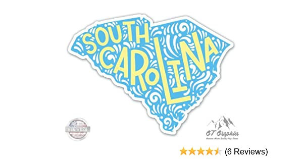 Water Bottles and Cell Phones South Carolina Home State Vinyl Sticker for Laptops