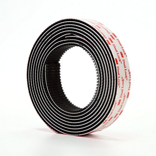 3M Dual Lock Reclosable Fastener TB3550 250/250 Black, 1 in x 10 ft (2 Mated Strip/Bag) ()