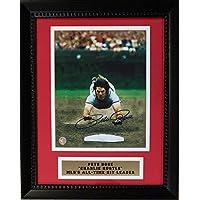 $129 » Pete Rose Autographed Cincinnati Reds Diving Signed Framed Baseball 8x10 Photo COA