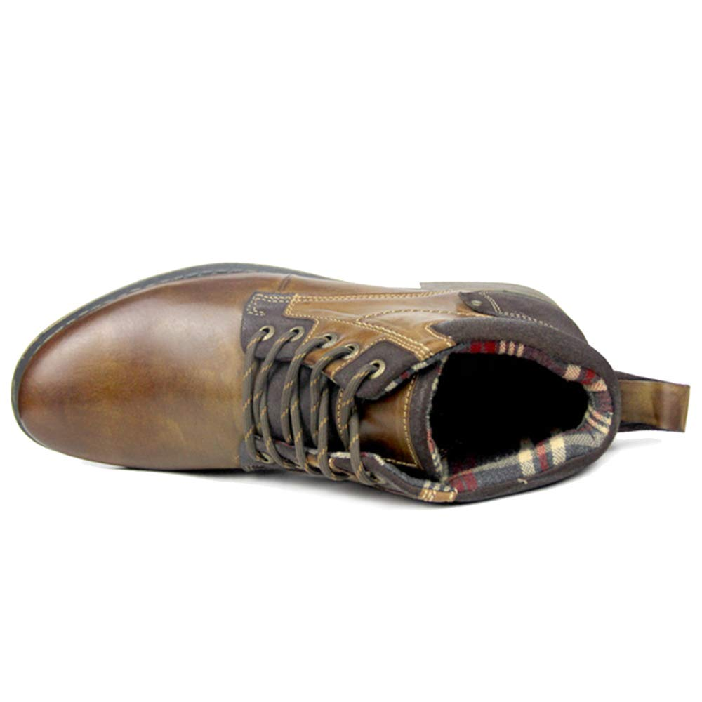 MERRYHE Herren Echtleder Echtleder Echtleder Martin Stiefel Schnürstiefeletten Winter Warm Formelle Kleidung Schuhe Große Desert Stiefel 543dda