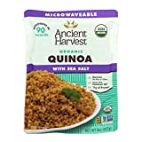 Ancient Harvest Microwaveable Heat-and-Eat Organic Quinoa with Sea Salt, 8 oz. Microwavable Pouches (Pack of 12), for Convenient Daily Protein Review