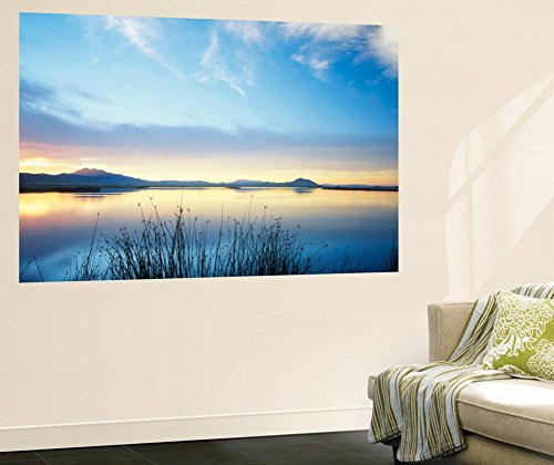 Great Basin Utah (View of Bear River at Dusk, Cache Valley, Great Basin, Utah, USA Wall Mural by Scott T. Smith 48 x 72in)
