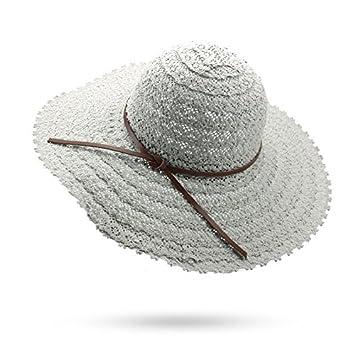9539cdf253a605 ALWLJ Summer Hats For Women Fashion Design Women Beach Big Wide Sun Hat  Foldable Brimmed Straw
