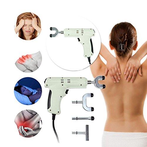 Impulse Tool - Vanvler Spine Chiropractic Adjusting Tool Impulse Adjuster Spinal Chiropractic Activator Massager Body Relax (White)
