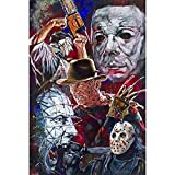 Square/Drill 5D DIY Diamond Painting''Horror Saws'' 3D Embroidery Cross Stitch Mosaic Home Decoration,70x90cm