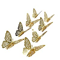 aooyaoo 48pcs/lot 3D Butterfly Kids Wall Stickers Fridge for Nursery Room Decoration