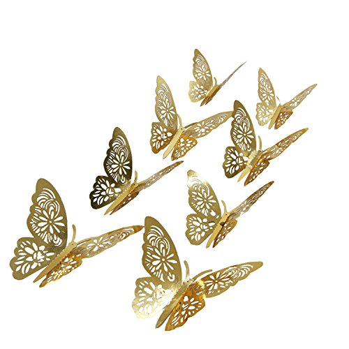 aooyaoo Butterfly Stickers Nursery Decoration