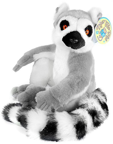 Ring Tailed Lemur Tail Costume (Ringo the Ring-tailed Lemur | 20 Inch (With Tail!) Madagascar Lemur Stuffed Animal Plush | By Tiger Tale Toys)