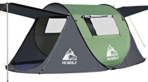 Hewolf Pop-Up-Tent,Instant Automatic Family Tents Easy Set Up Tent for Camping,Hiking & Traveling