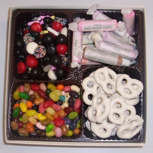 Scott's Cakes Large 4-Pack Yogurt Pretzels, Salt Water Taffy, Licorice Mix, & Assorted Jelly Beans