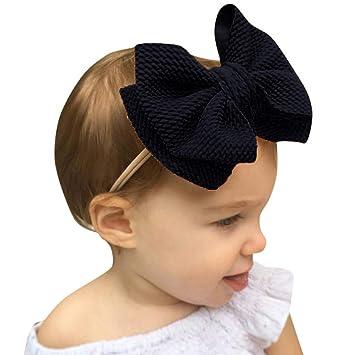1PC Baby Girl Toddlers Newborns Infants Headbands Bow Hairbands Turban Headwraps
