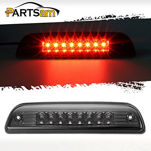 Partsam High Mount Red Led Third 3rd Brake Light Smoked Replacement for Toyota Tacoma Pickup Truck 95 96 97 98 99 00 01 02 03 04 05 Rear Cab Center Mount Stop Brake Tail Cargo Light Lamp Waterproof (Rear Cab Mount)