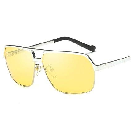 KOMNY Gafas de Sol polarizadas de Aluminio y magnesio, los Conductores Hombres Conducir Coche Pesca