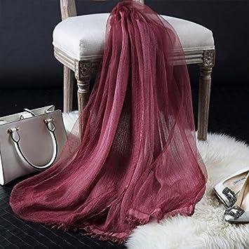 ZHANGYONG Foulard Soie Foulard Soie Longue écharpe multifonctionnelle de  l automne et Une Section Fine 07ce93bbb50