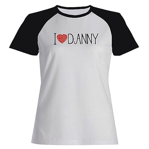 Idakoos I love Danny cool style - Nomi Maschili - Maglietta Raglan Donna