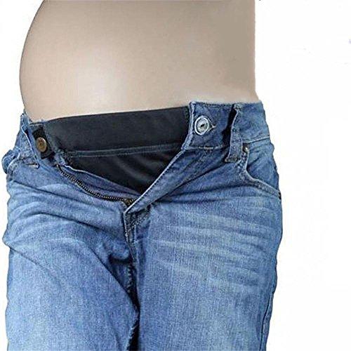 3 Da Fascia pacco Jeans Kangyh Nero Donna Allarga Belly E Bianco Belt Colori Pantaloni AqwEHRO
