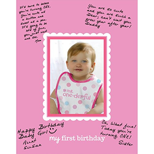 Amscan 1st Birthday Girl Autograph Photo Matte Party