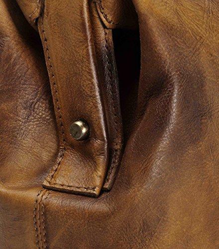 Brun Rétro médecin avec la traversant corps peau à fait à main teinté poignée de main le sac supérieure qqxHfp
